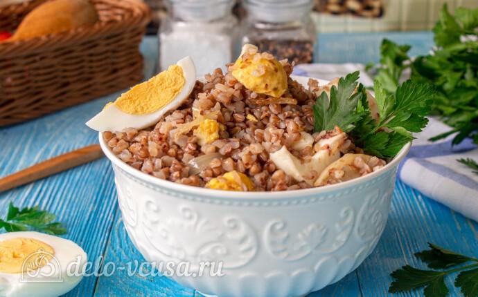 Рецепт гречневая каша с яйцом и луком