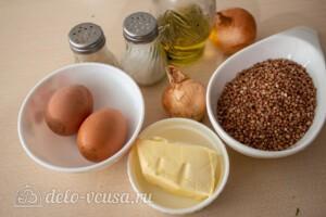 Гречневая каша с яйцом и луком: Ингредиенты