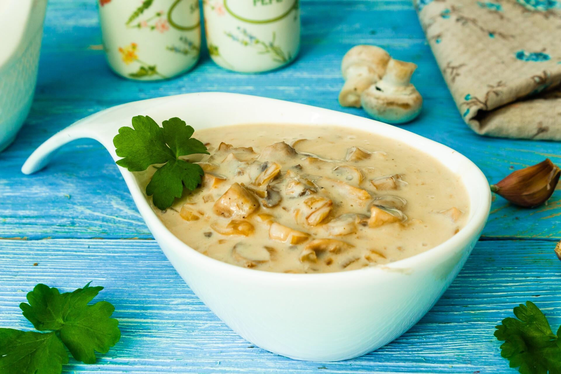 Сливочный соус с шампиньонами, пошаговый рецепт с фото