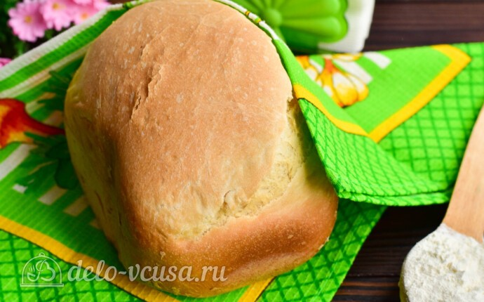 Белый хлеб на воде в хлебопечке