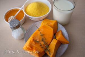 Кукурузная каша с тыквой и молоком: Ингредиенты