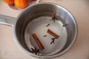 Мандарины в пряном сиропе: фото к шагу 2.