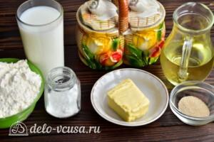 Молочный хлеб в хлебопечке: Ингредиенты