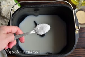 Молочный хлеб в хлебопечке: фото к шагу 2.