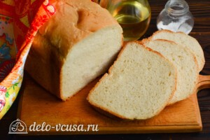 Молочный хлеб в хлебопечке: фото к шагу 9.