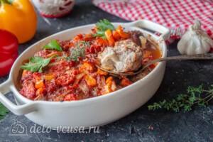 Мясные шарики с моцареллой в томатном соусе: фото к шагу 12.