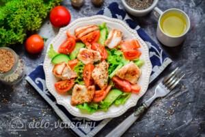 Овощной салат с индейкой: фото к шагу 7.