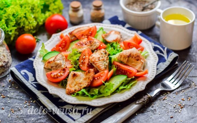 Овощной салат с индейкой