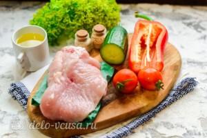 Овощной салат с индейкой: Ингредиенты