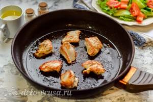 Овощной салат с индейкой: фото к шагу 4.