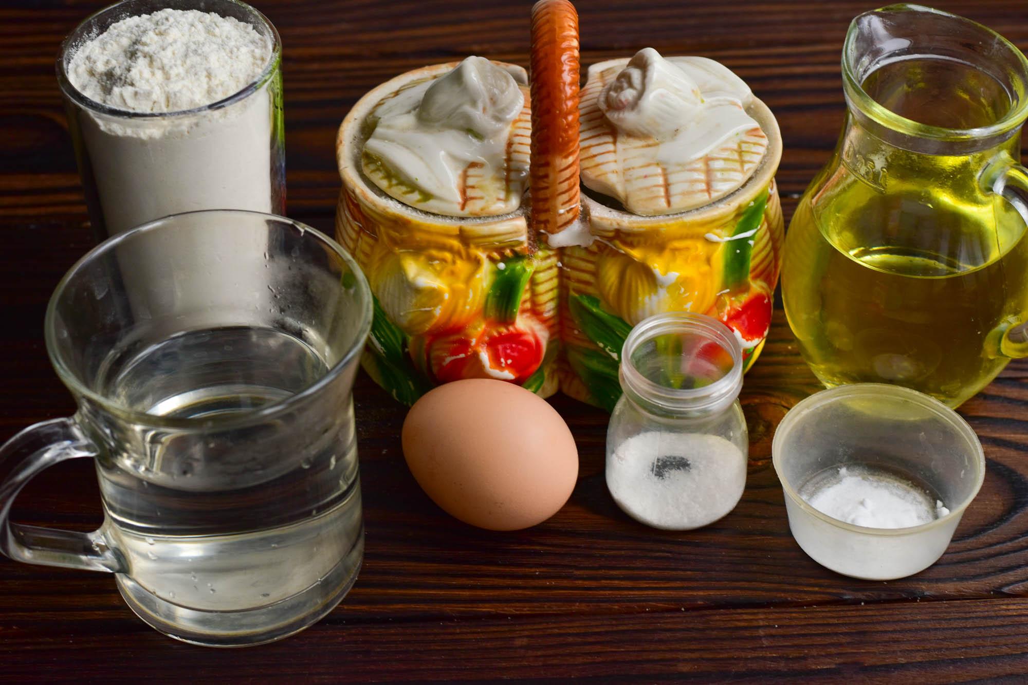 Панкейки на воде с содой: Ингредиенты