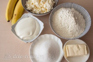 """Печенье """"Бананы"""" с творожной начинкой: Ингредиенты"""