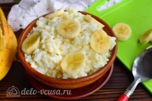 Рисовая каша с бананом: фото к шагу 7.