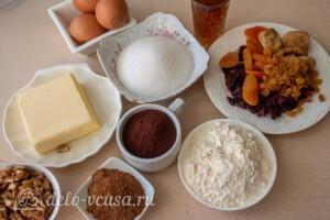 Рождественский шоколадный кекс: Ингредиенты
