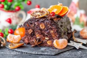 Рождественский шоколадный кекс: фото к шагу 15.