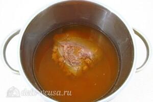 Салат из телячьей печени с овощами: фото к шагу 3.