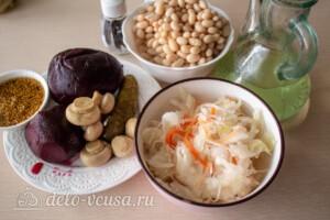 Зимний салат с фасолью и свеклой: Ингредиенты