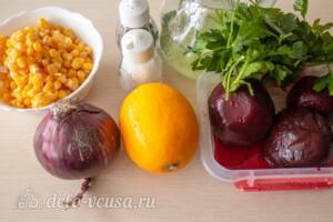 Салат со свеклой и кукурузой: Ингредиенты