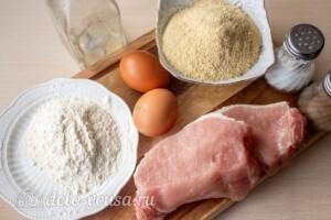 Шницель из свинины на сковороде: Ингредиенты