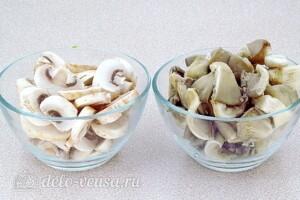 Стручковая фасоль с грибами в томатном соусе: фото к шагу 4.