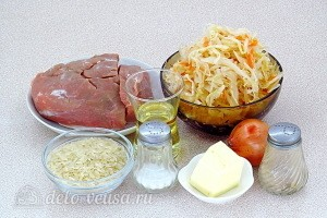 Свинина с квашеной капустой и рисом ингредиенты