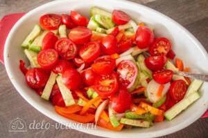 Тефтели с пармезаном и печёными овощами: фото к шагу 8.