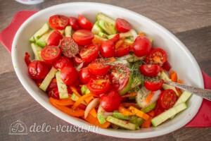 Тефтели с пармезаном и печёными овощами: фото к шагу 9.