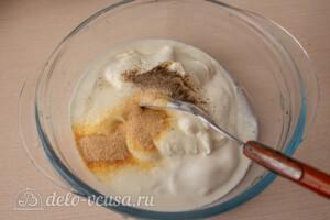 Гречаники в сметанном соусе в духовке: фото к шагу 7.