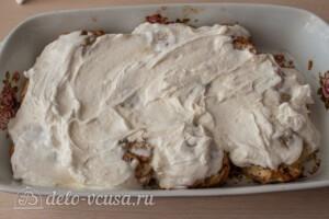 Гречаники в сметанном соусе в духовке: фото к шагу 9.