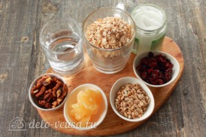 Гранола на кокосовом масле: Ингредиенты