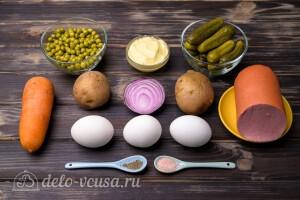 Ингредиенты для салат Оливье