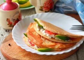 Рецепт пп овсяноблин с семгой и авокадо