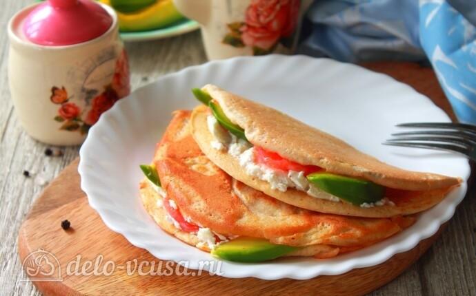 ПП овсяноблин с семгой и авокадо: фото блюда приготовленного по данному рецепту