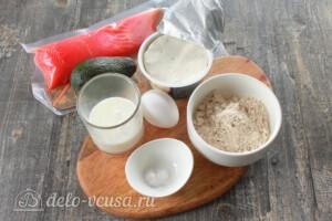 ПП овсяноблин с семгой и авокадо: Ингредиенты