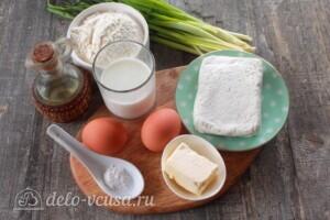Творожный пирог с яйцом и зеленью: Ингредиенты
