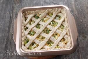 Творожный пирог с яйцом и зеленью: фото к шагу 9.