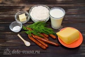 Сконы с сыром и колбасой: Ингредиенты