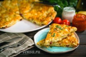 Сконы с сыром и колбасой: фото к шагу 10.