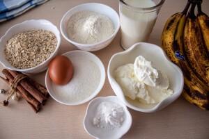 Бананово-овсяные панкейки: Ингредиенты