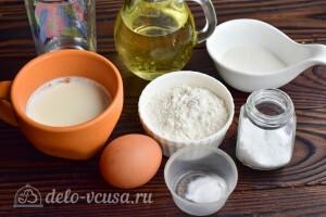 Тонкие блины на кислом молоке: Ингредиенты