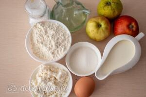 Творожные блины на молоке с яблоками: Ингредиенты