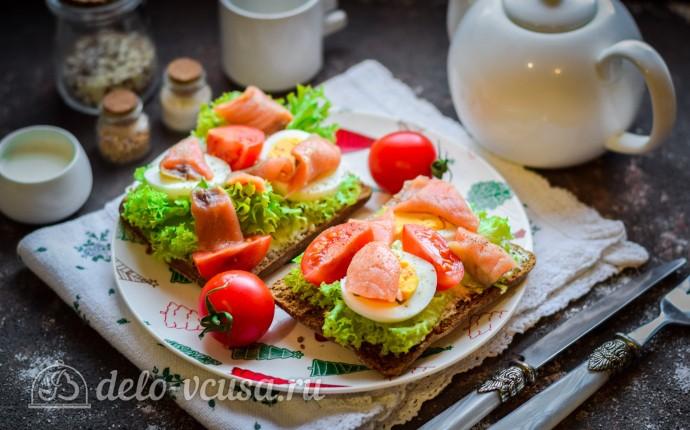 Рецепт бутерброды с семгой и яйцом
