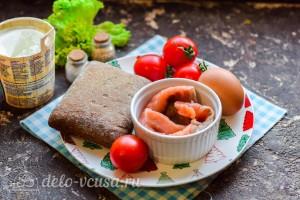 Бутерброды с семгой и яйцом: Ингредиенты