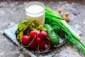 Чалоп на простокваше - узбекская окрошка: Ингредиенты