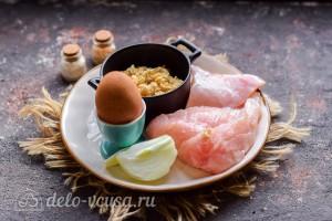 Диетические куриные котлеты с овсянкой: Ингредиенты