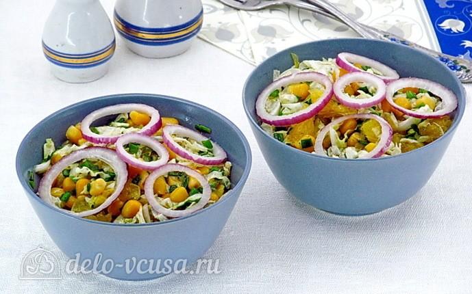 Фитнес-салат из пекинской капусты и апельсинов: фото блюда приготовленного по данному рецепту