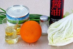 Фитнес-салат из пекинской капусты и апельсинов: Ингредиенты
