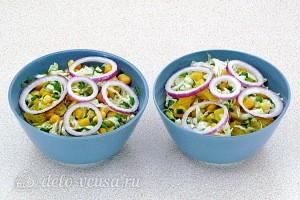 Фитнес-салат из пекинской капусты и апельсинов готов