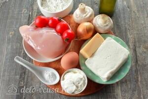 Галета с курицей и грибами: Ингредиенты