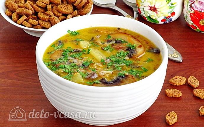 Рецепт грибной суп со сливками и шампиньонами